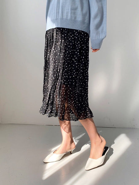 Polka Dot Chiffon Skirt | Korea Fashion Trends Women's USA | LOCOLIPS
