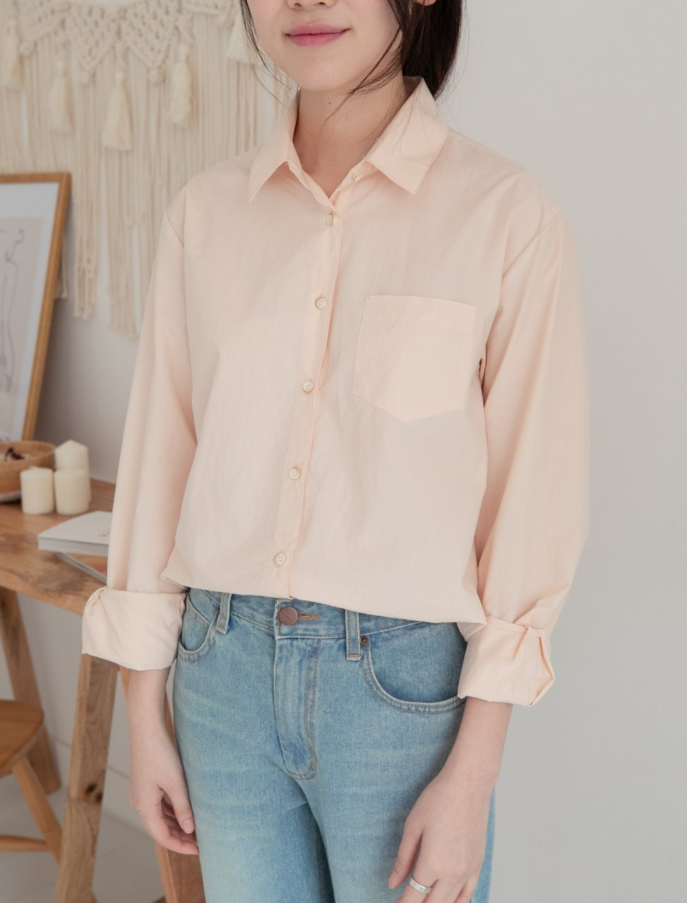 Cotton Shirt With Pocket - LOCOLIPS
