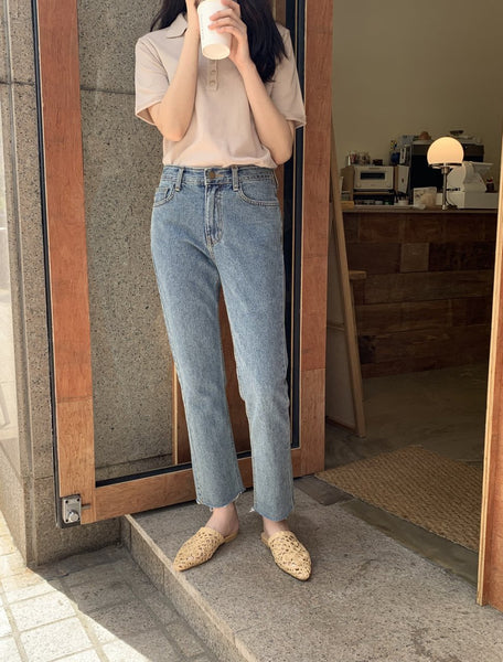 Cut Denim Pants (s, m) - LOCOLIPS
