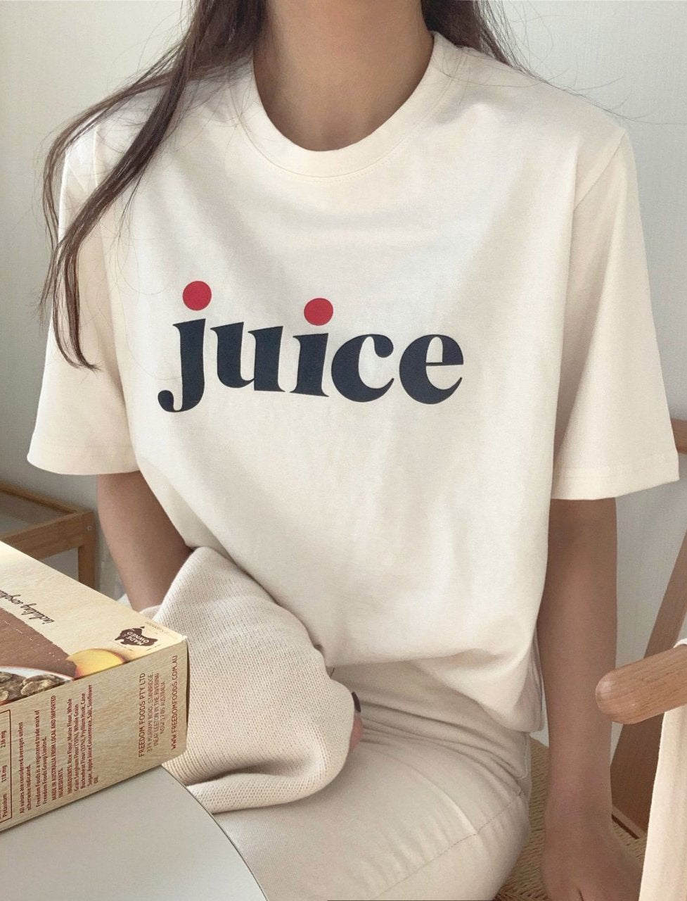 Washing T-Shirt With Printed Juice (3 colors) - LOCOLIPS