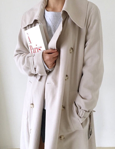 Rayon Trench Coat
