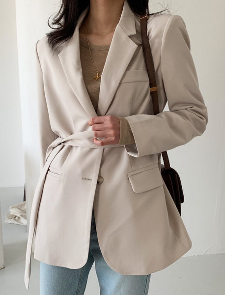 Spring Jacket with Belt (2 colors)