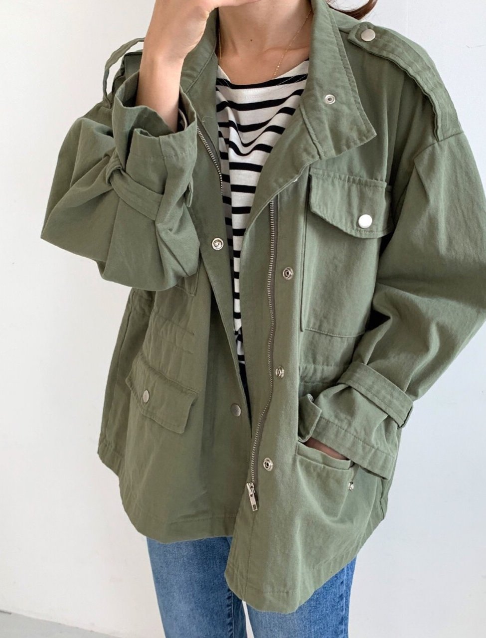 Natural Cotton Jacket With Pockets (2 Colors) - LOCOLIPS
