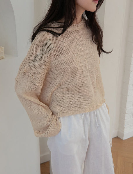 Round neck sweater loose - LOCOLIPS