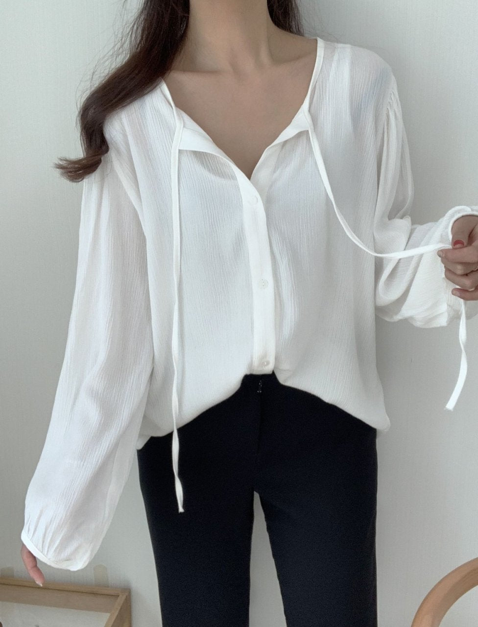 Loose fitting rayon blouse - LOCOLIPS