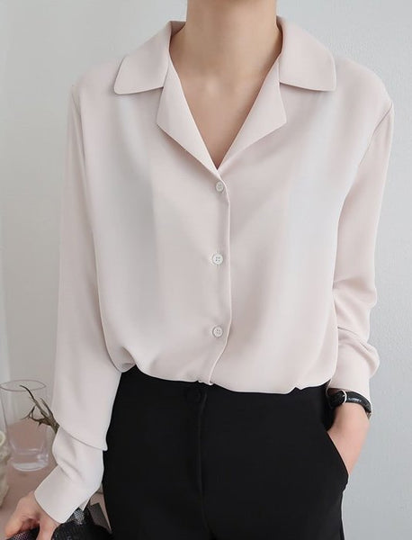 Long-sleeved Blouse (3 Colors)