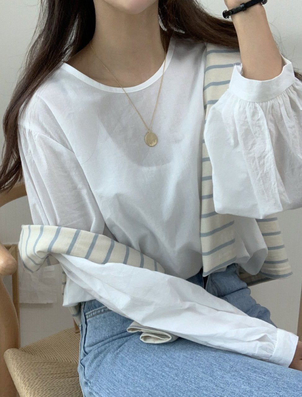 Ruched round blouse - LOCOLIPS