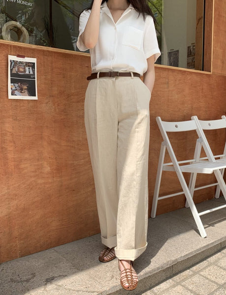Linen pants big - LOCOLIPS