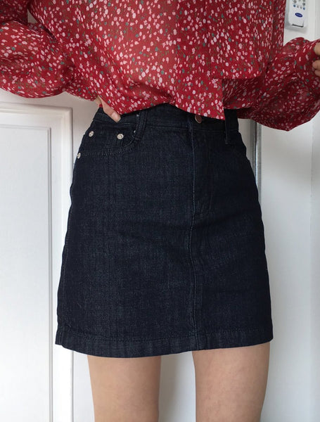 Dark Blue Jean Skirt Spring Bottom 2019 Women's Austin LOCOLIPS