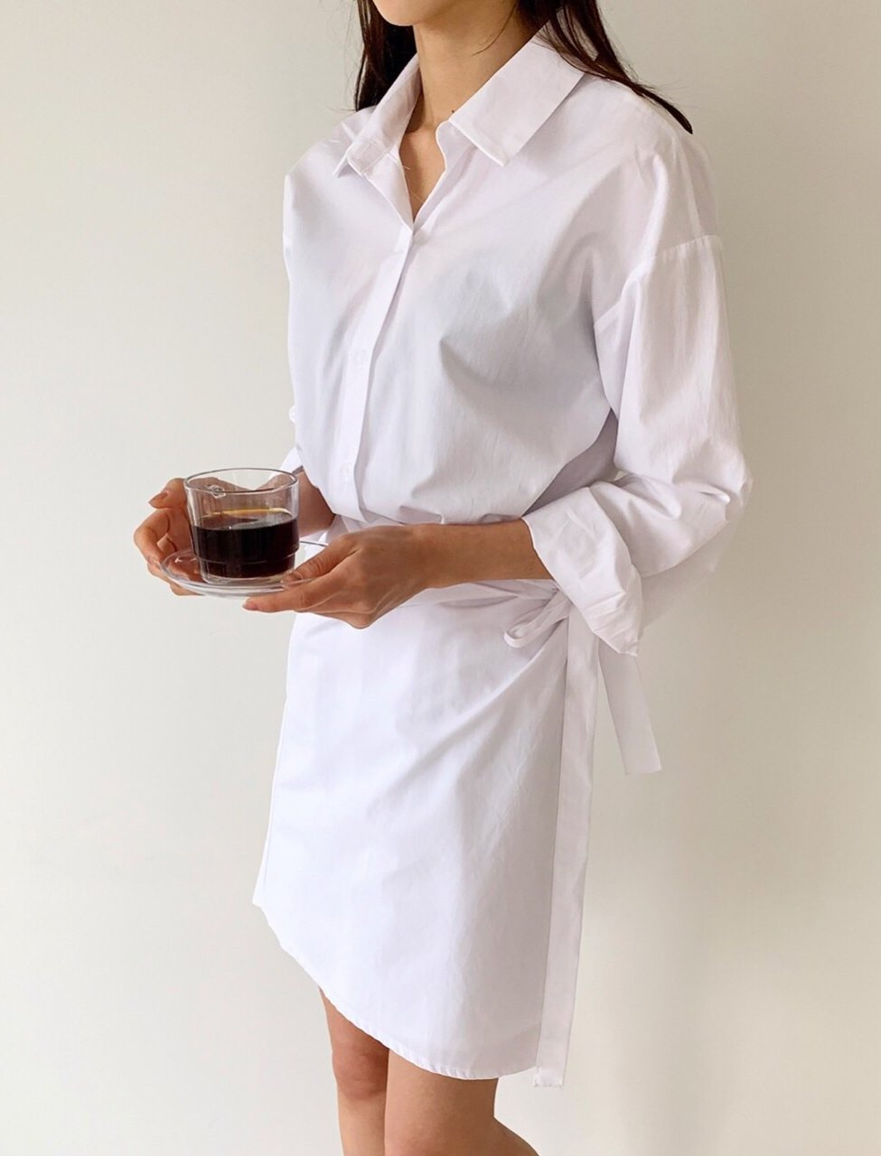 Wrap Shirt Dress - LOCOLIPS