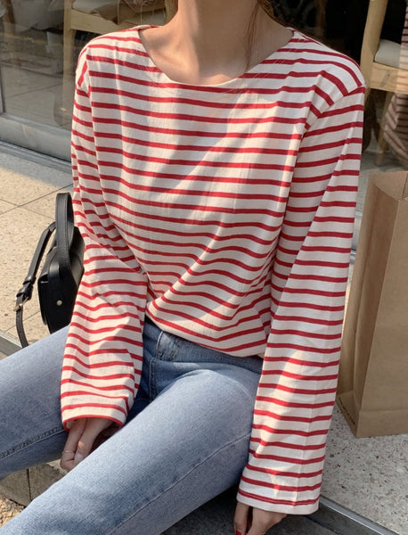 Red And White Striped Top - LOCOLIPS