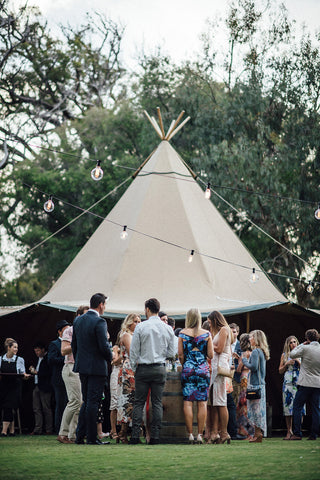 Giant Tipi's (Seating 80 - 500 guests)