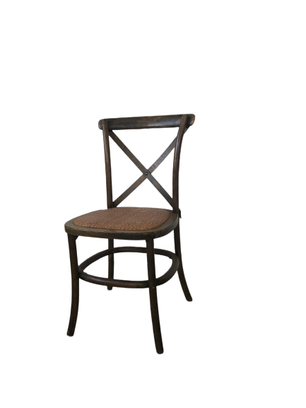 Timber Cross Back Chair - Indian Tea