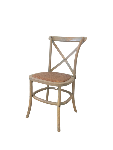 Timber Cross Back Chair - Weather Oak