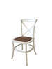 Timber Cross Back Chair - White