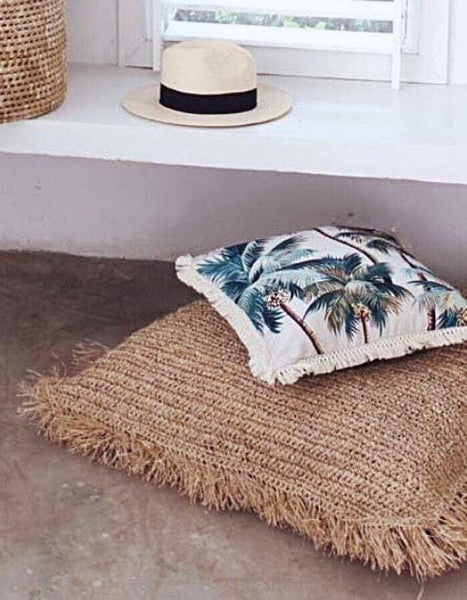 Palm Tree natural Fringe Cushion