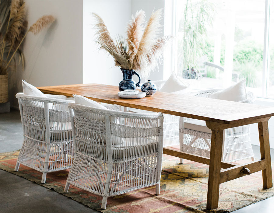 Natural Timber Dining Table by The Zest Group WA
