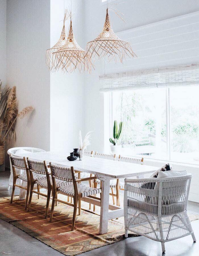 White Timber Dining Table by MOBO
