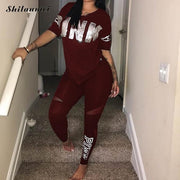 Skinny Pants Two Piece Sportsuits