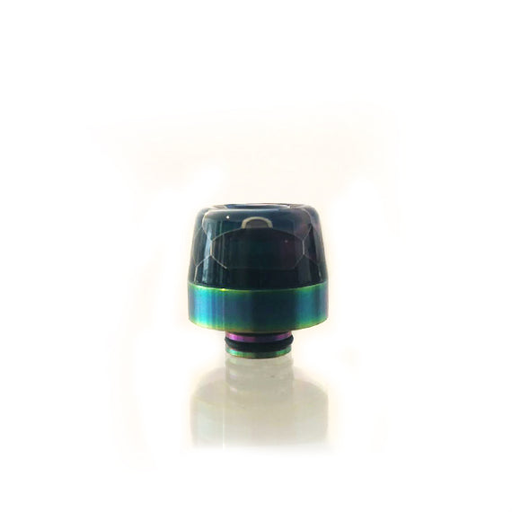 Drip Tip - 510 Resin & Rainbow Ring (DTE511)
