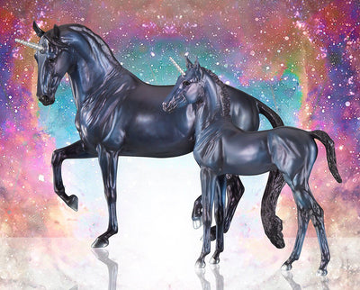 Bellatrix & Spica | Unicorn Mare & Foal Model Breyer