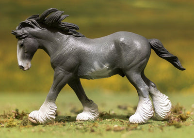 Black Sabino Roan Clydesdale Stallion Model Breyer