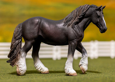 Black Shire Mare Model Breyer