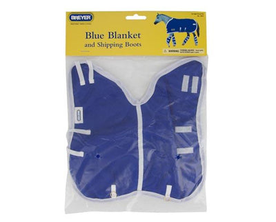 Blue Blanket and Shipping Boots Model Breyer