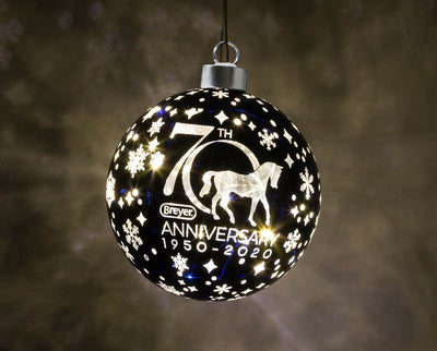 Breyer 70th Anniversary Glass Ball Ornament | Lights Up! Model Breyer