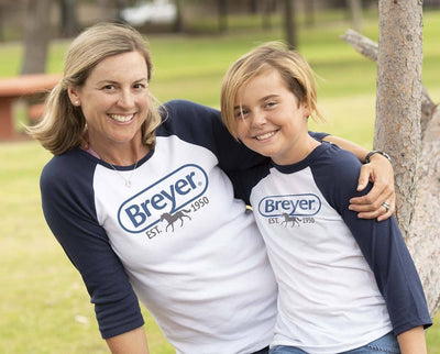 Breyer Logo Ladies Baseball T-Shirt Apparel Breyer