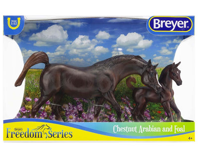 Chestnut Arabian Horse & Foal Model Breyer