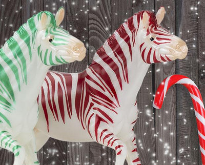 Christmas Candy - Zebra! Club Model Breyer Retired