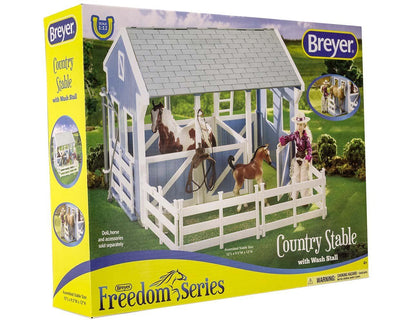 Classics Country Stable with Wash Stall Model Breyer