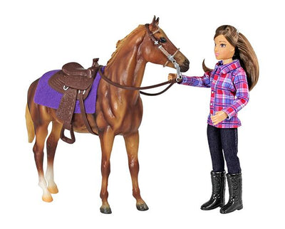 Classics Western Horse and Rider Model Breyer