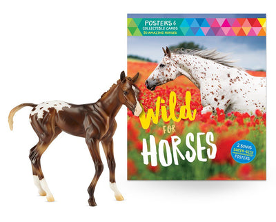 Espresso with Wild For Horses Book Model Breyer