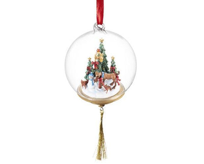 First Holiday Glass Globe Ornament Model Breyer Retired
