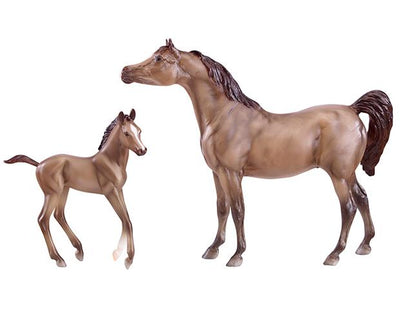 Grey Arabian Horse & Foal Model Breyer
