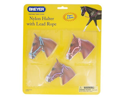 Hot Colored Nylon Halters - 3 Piece Assortment Model Breyer