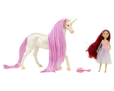 Magical Unicorn Sky and Fantasy Rider, Meadow Model Breyer