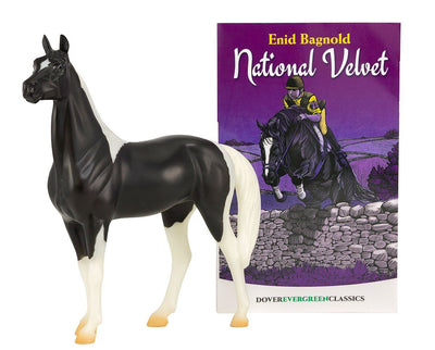 National Velvet Horse and Book Set Model Breyer