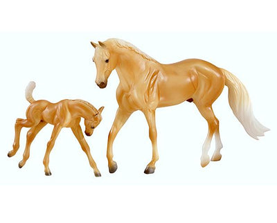 Palomino Morgan and Foal Model Breyer