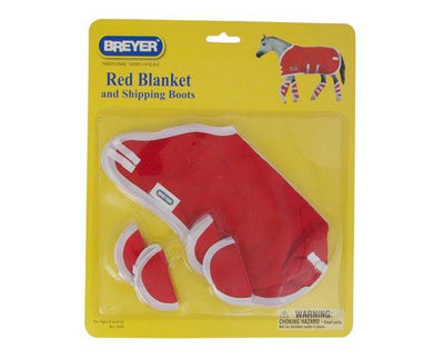 Red Blanket & Shipping Boots Model Breyer
