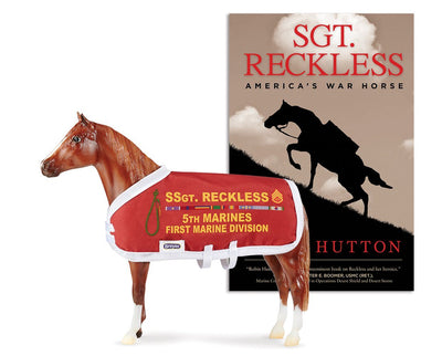 Sergeant Reckless and Sgt. Reckless Book Model Breyer