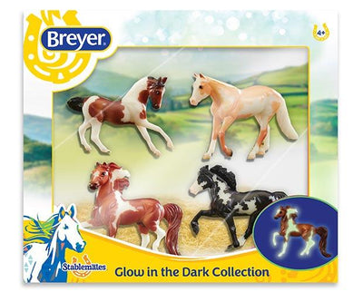 Stablemates Glow in the Dark 4-Horse Set Model Breyer