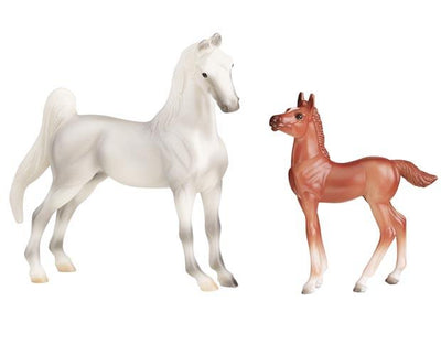 Stablemates Grey Horse & Chestnut Foal Model Breyer