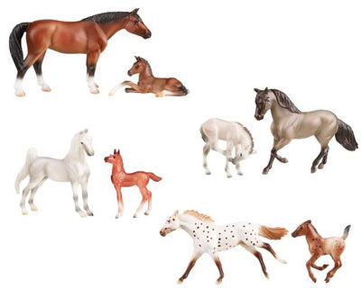 Stablemates Horse & Foal 4 Pc Assortment Model Breyer