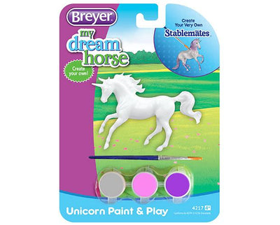 Unicorn Paint and Play - Style A Model Breyer