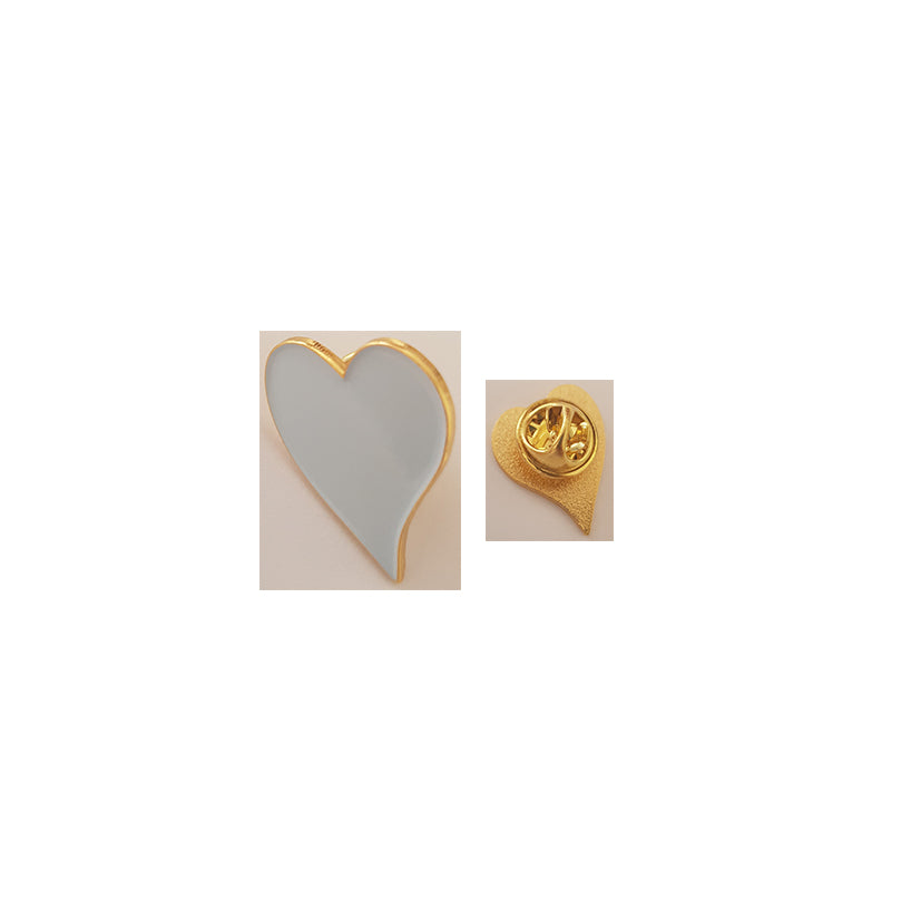 Pin White Heart - Symbol of Nursing