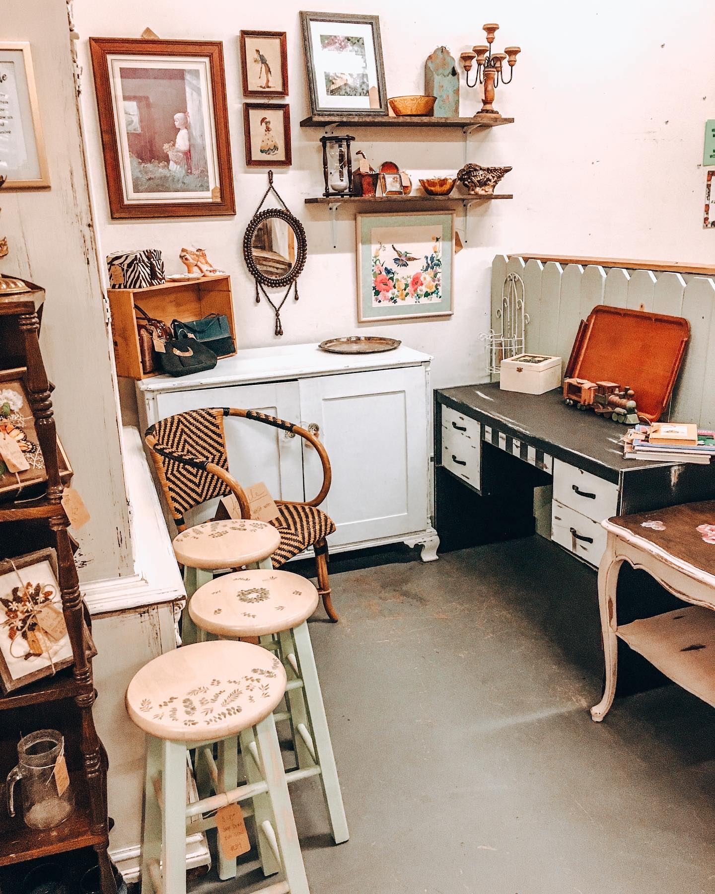 A photo of the antique booth