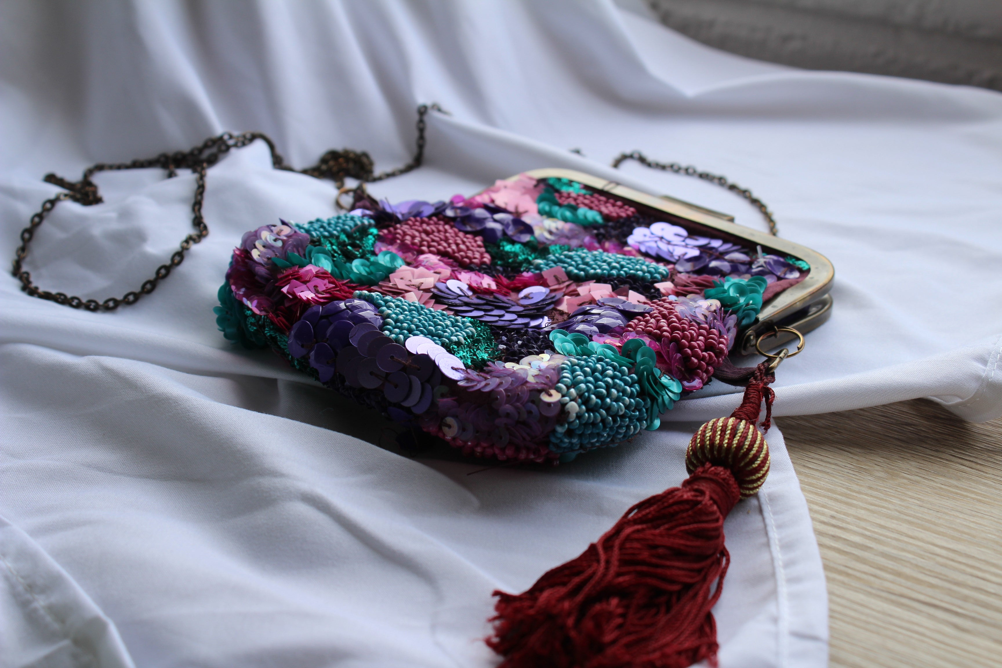 Jasper & Jeera Beaded Coin Purse